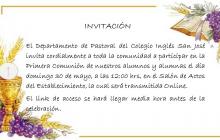 Misa Comunitaria y Primeras Comuniones Mayo 2021